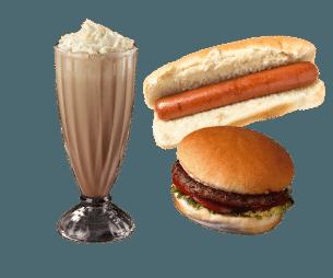5 & 10 dine header food and drink